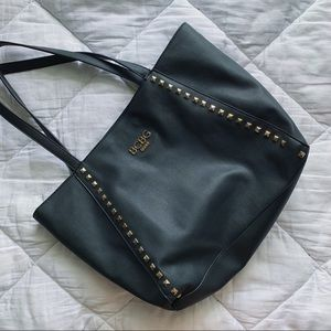 BCBG Paris Black Studded Tote Purse Bag